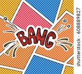 comic book speech bubble ...   Shutterstock .eps vector #608889827