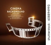 vector movie poster with film... | Shutterstock .eps vector #608894993