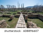 ruins of the ancient greek city ... | Shutterstock . vector #608896607