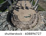ruins of the ancient greek city ... | Shutterstock . vector #608896727
