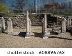 ruins of the ancient greek city ... | Shutterstock . vector #608896763