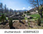 ruins of the ancient greek city ... | Shutterstock . vector #608896823