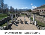 ruins of the ancient greek city ... | Shutterstock . vector #608896847