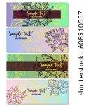 vector floral banner templates | Shutterstock .eps vector #608910557