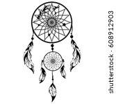 hand drawn native american...   Shutterstock .eps vector #608912903