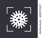bacteria vector icon | Shutterstock .eps vector #608915627