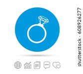 ring sign icon. jewelry with...   Shutterstock .eps vector #608926277
