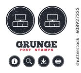 grunge post stamps. tv table...   Shutterstock .eps vector #608927333