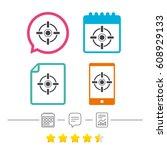 crosshair sign icon. target aim ...   Shutterstock .eps vector #608929133