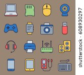 web icons set of smart devices... | Shutterstock .eps vector #608930297