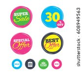 super sale and best offer... | Shutterstock .eps vector #608949563