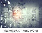 global connection and networking | Shutterstock . vector #608949923