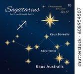 sagittarius. high detailed... | Shutterstock .eps vector #608954507