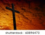 cross silhouette with the... | Shutterstock . vector #60896473
