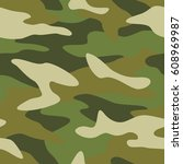 camouflage pattern background... | Shutterstock .eps vector #608969987