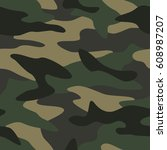 camouflage pattern background... | Shutterstock .eps vector #608987207