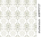 vintage floral seamless patten | Shutterstock .eps vector #608995727
