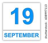 september 19. day on the... | Shutterstock . vector #608997113