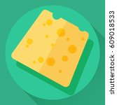 vector cheese flat cartoon... | Shutterstock .eps vector #609018533