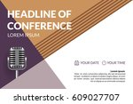 business conference invitation... | Shutterstock .eps vector #609027707