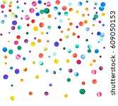 sparse watercolor confetti on... | Shutterstock . vector #609050153