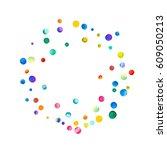 sparse watercolor confetti on... | Shutterstock . vector #609050213