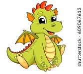 cute cartoon dragon | Shutterstock .eps vector #609067613
