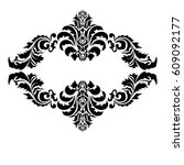 vector black and white...   Shutterstock .eps vector #609092177
