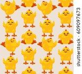 vector seamless pattern of...   Shutterstock .eps vector #609097673