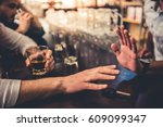 do not drink and drive  cropped ... | Shutterstock . vector #609099347