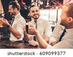 handsome businessmen are... | Shutterstock . vector #609099377