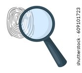 magnifier and fingerprint.... | Shutterstock .eps vector #609101723