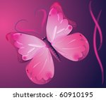 butterfly  on a purple... | Shutterstock . vector #60910195