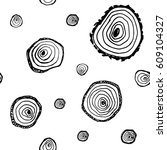 seamless tree cut pattern ... | Shutterstock .eps vector #609104327