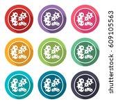 illustration icon for bacteria | Shutterstock .eps vector #609105563