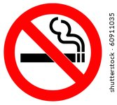 red symbol of no smoking zone | Shutterstock . vector #60911035