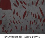 grunge bloodstains splats... | Shutterstock .eps vector #609114947