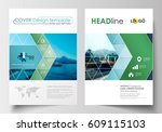business templates for brochure ... | Shutterstock .eps vector #609115103