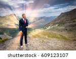 portrait of a young man in a... | Shutterstock . vector #609123107
