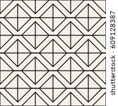 seamless pattern with squares.... | Shutterstock .eps vector #609128387