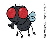 cartoon fly vector illustration | Shutterstock .eps vector #609129407