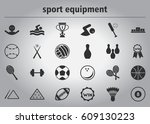 sport equipment collection | Shutterstock .eps vector #609130223