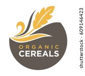 organic cereals emblem ear of... | Shutterstock .eps vector #609146423