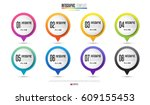 timeline infographics design... | Shutterstock .eps vector #609155453