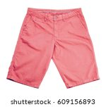 pink short on white background | Shutterstock . vector #609156893