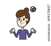 helpless woman | Shutterstock .eps vector #609170837