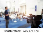 video camera taking live video... | Shutterstock . vector #609171773