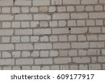 old white and gray brick wall | Shutterstock . vector #609177917