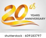 anniversary emblems 20... | Shutterstock .eps vector #609183797
