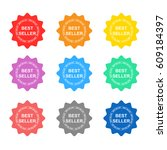 best seller tag colorful set... | Shutterstock .eps vector #609184397